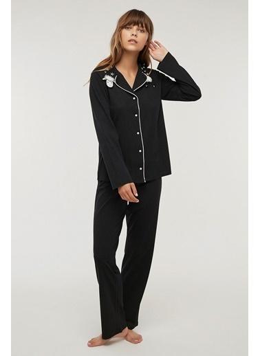 Penti Falling Stars Pijama Takımı Siyah